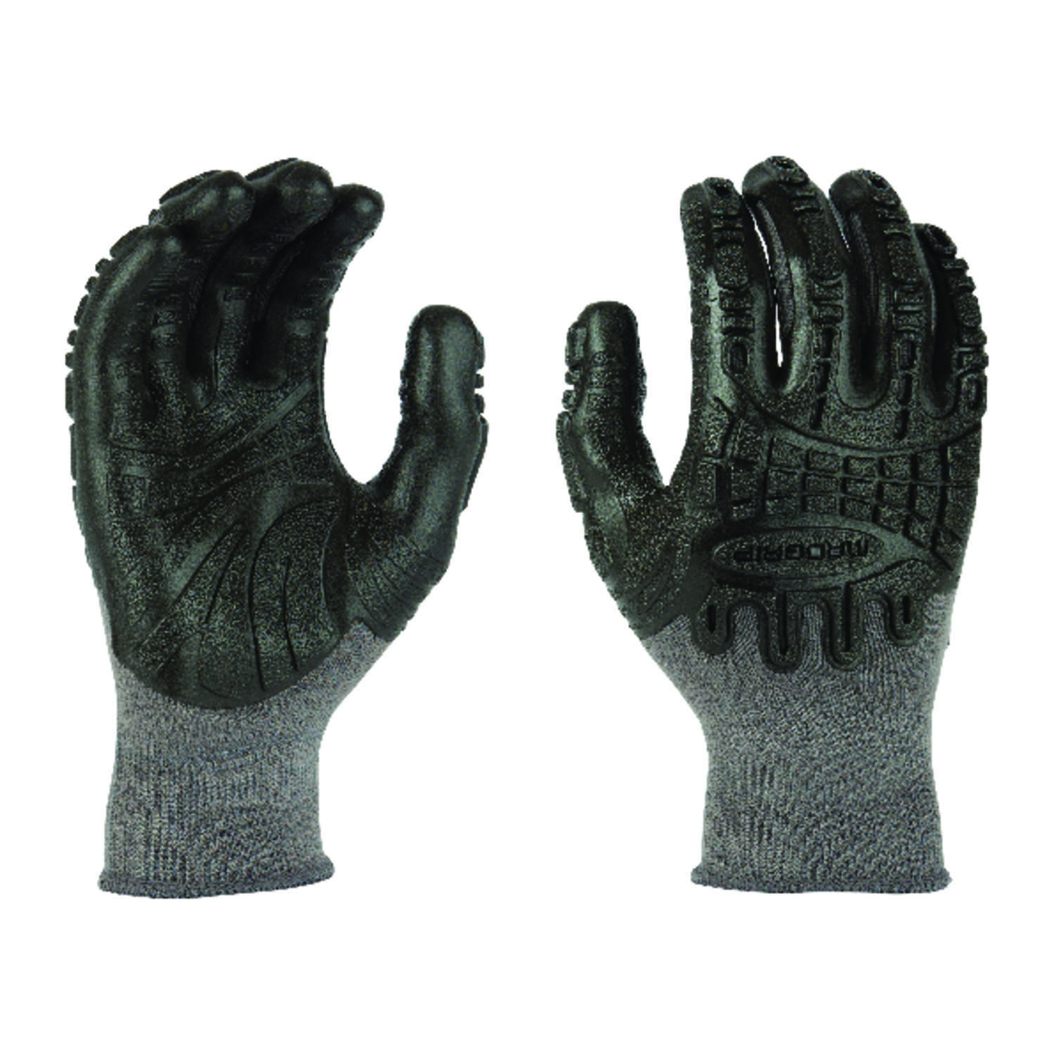 Madgrip  Thunderdome  Unisex  Rubber  Coated  Work Gloves  Black  M