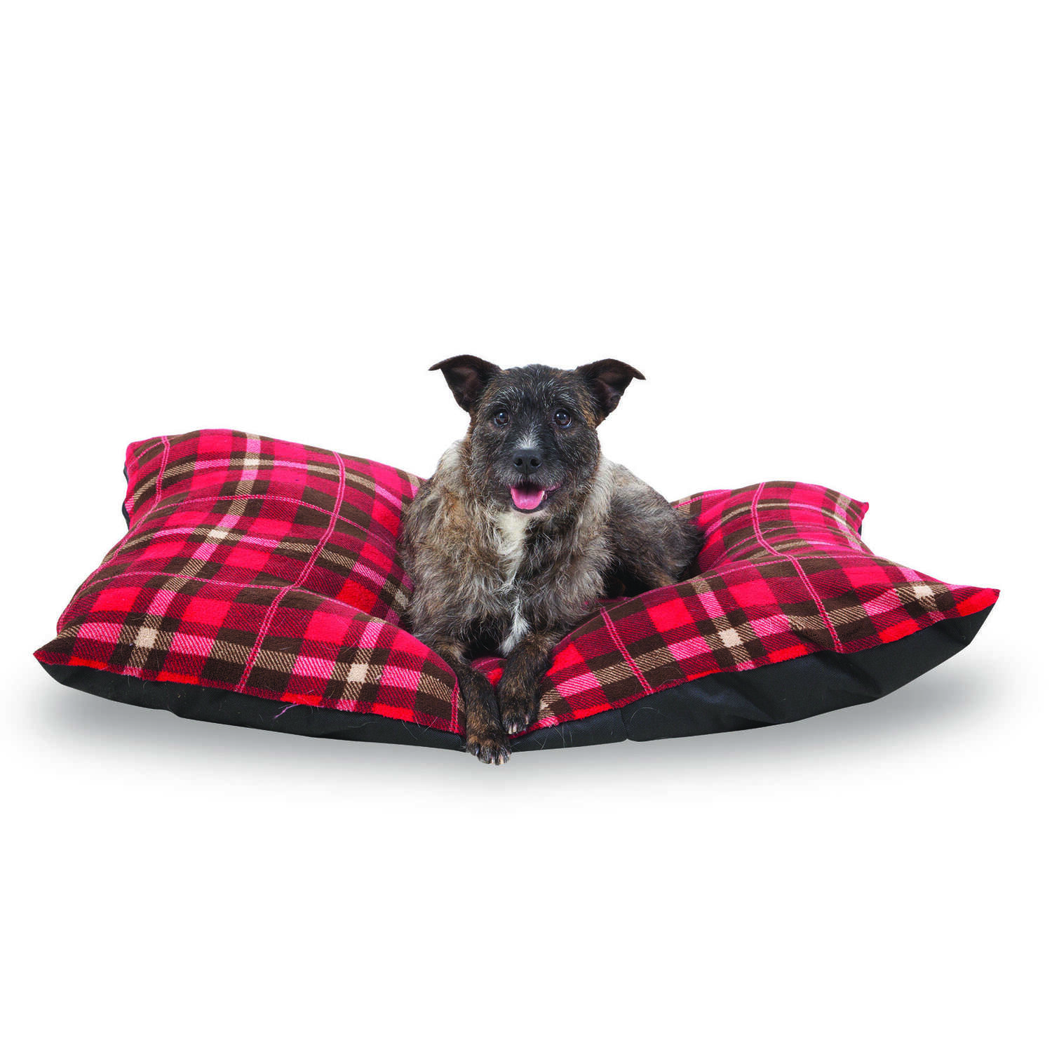 Aspen Pet  Black  Faux Micro Suede  Rectangle  3 in. H x 36 in. W x 27 in. L Pet Bed