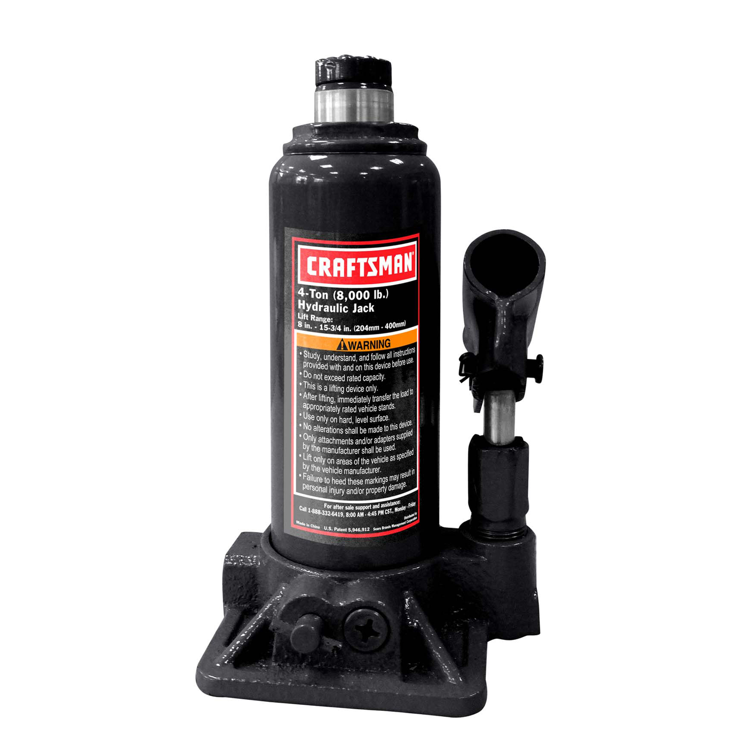 Craftsman  Hydraulic  Automotive Bottle Jack  4 ton