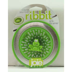 Joie  Ribbit Frog  4.5 in. W Green  Plastic/Stainless Steel  Sink Strainer  1 pk
