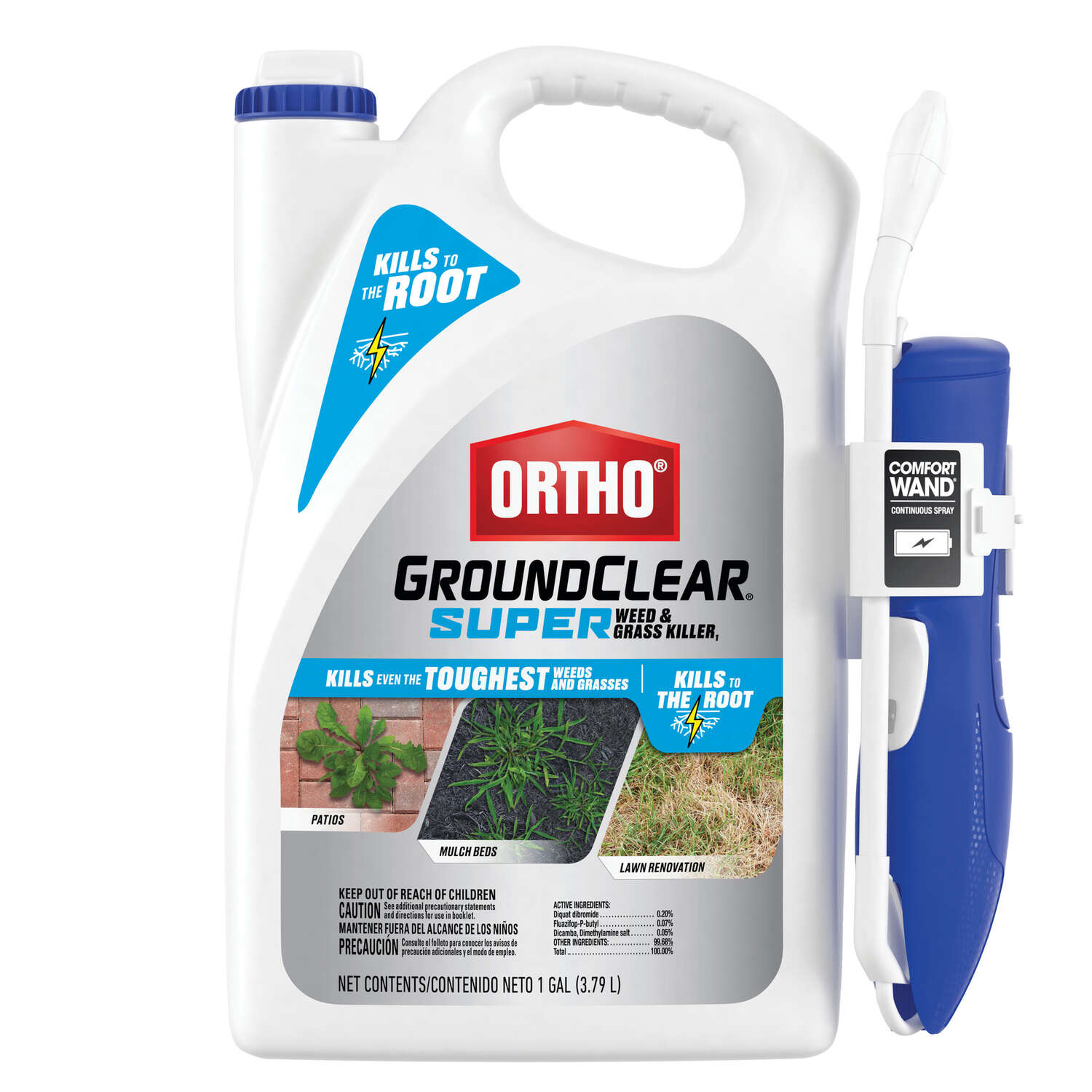 Ortho  GroundClear  Grass & Weed  Killer  RTU Liquid  1 gal.