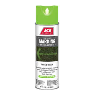 Ace  Water-Based  Green  Field Marking Chalk  17 oz.