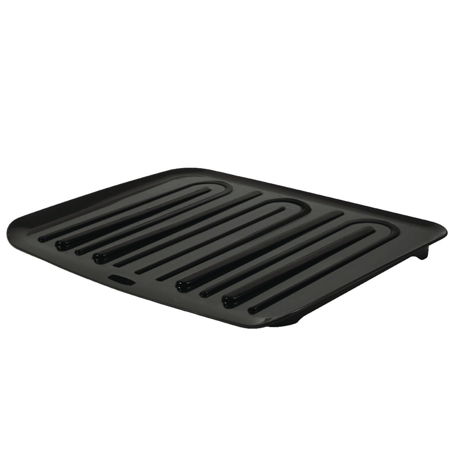 Rubbermaid 18 in. L x 14.8 in. W x 1.3 in. H Black Plastic Dish Drainer