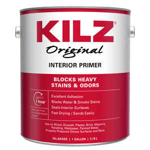 KILZ  Original  White  Flat  Oil-Based  Primer  1 gal.