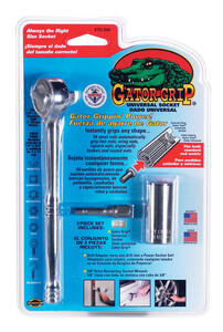 Gator Grip  3/8 in.  Metric and SAE  Socket  3 pc.