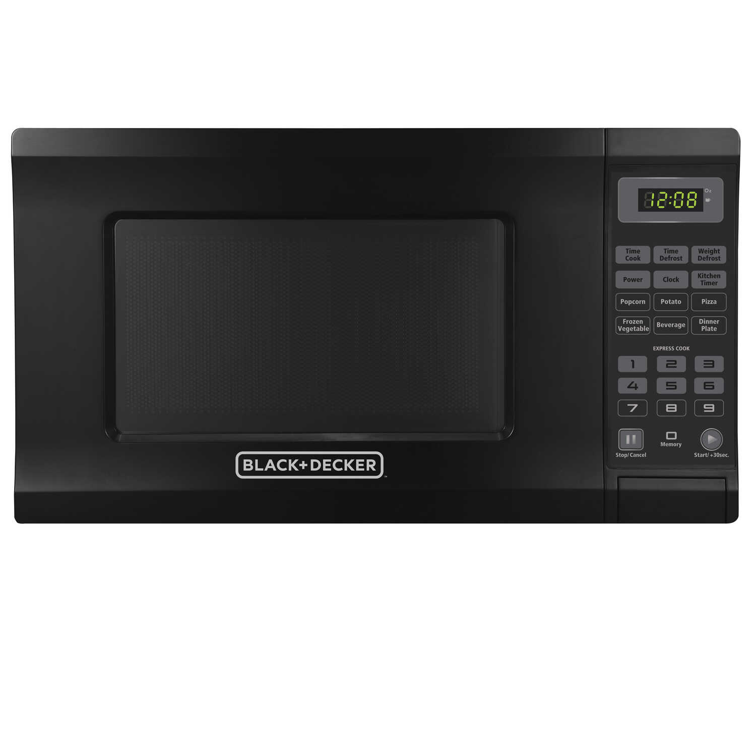 Black and Decker  0.7 cu. ft. Black  700 watts Microwave