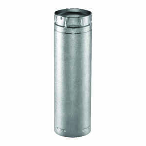 Duravent  4 in. Dia. x 60 in. L Galvanized Steel  Double Wall Stove Pipe