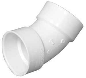 Charlotte Pipe  Schedule 40  6 in. Hub   x 6 in. Dia. Hub  PVC  45 Degree Elbow