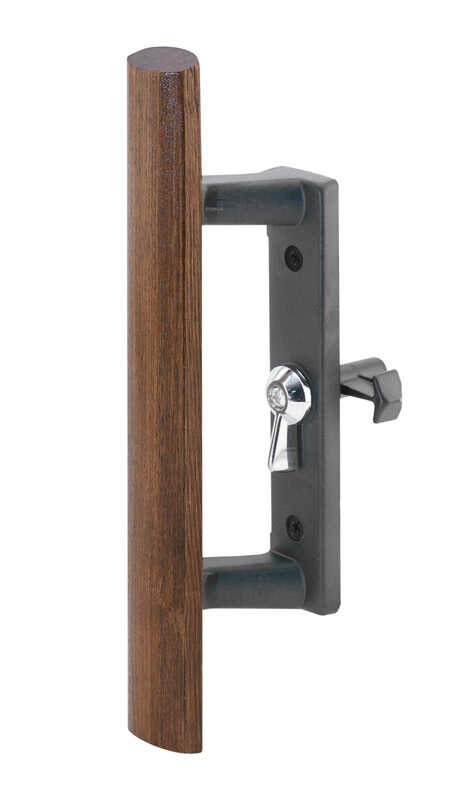 Prime-Line  Wood Tone  Steel  Outdoor  Sliding Door Latch