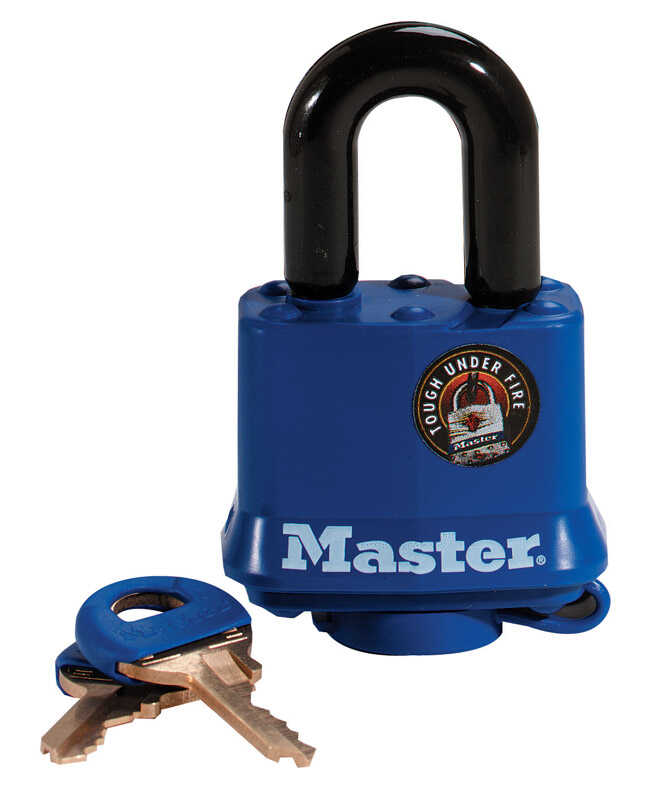 Master Lock  1 in. W x 1-9/16 in. L x 1-5/16 - 1-11/16 in. H Vinyl Covered Steel  4-Pin Cylinder  Pa