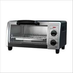 Black and Decker Stainless Steel Black/Silver 4 slot Toaster Oven 9 in. H x 16.9 in. W x 11.6 in