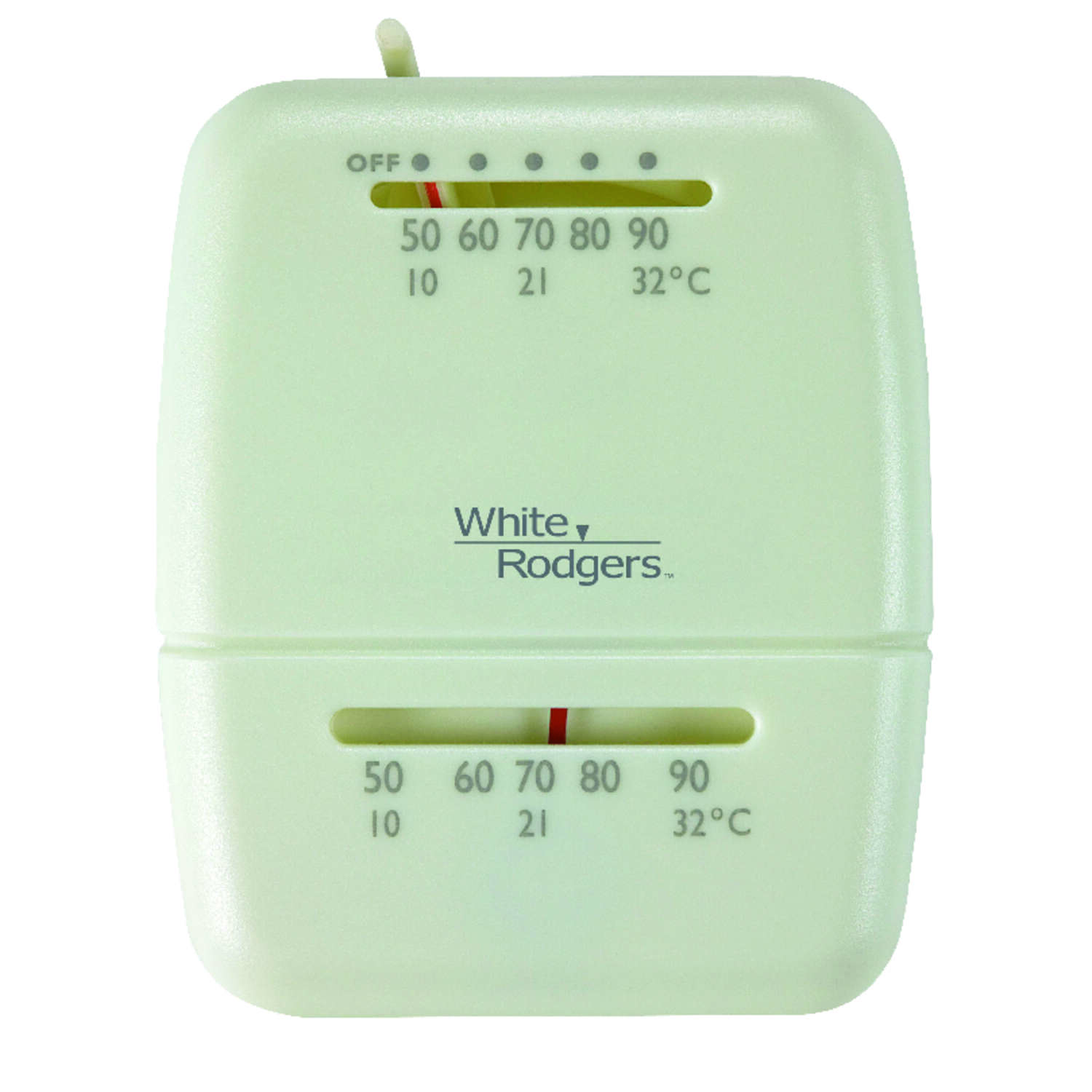 White Rodgers  Heating  Lever  Mechanical Thermostat