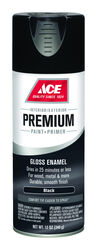 Ace  Premium  Gloss  Black  Enamel Spray Paint  12 oz.