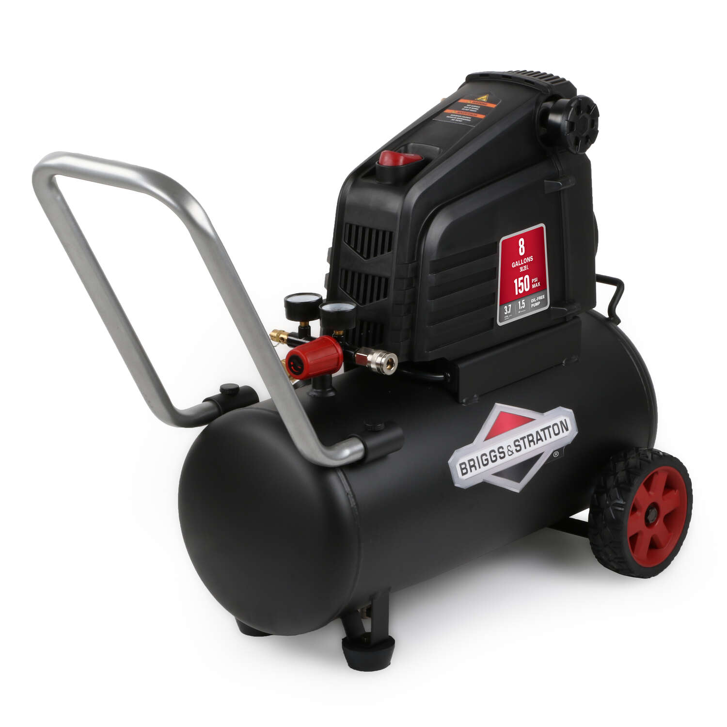 Briggs & Stratton  8 gal. Horizontal  Portable Air Compressor Tank  150 psi 1.5 hp