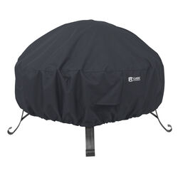 Classic Accessories  12 in. H x 36 in. W Black  Polyester  Fire Pit Cover
