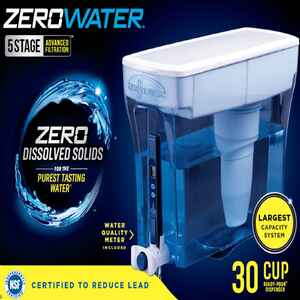 ZeroWater  Ready-Pour  240 oz. Blue  Water Filtration Pitcher