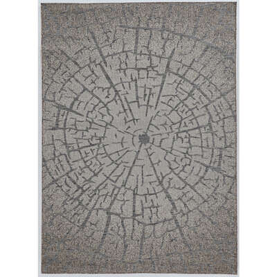 Linon Home Decor  6.5 ft. L x 9.5 ft. W Gray  Outdoor Rug