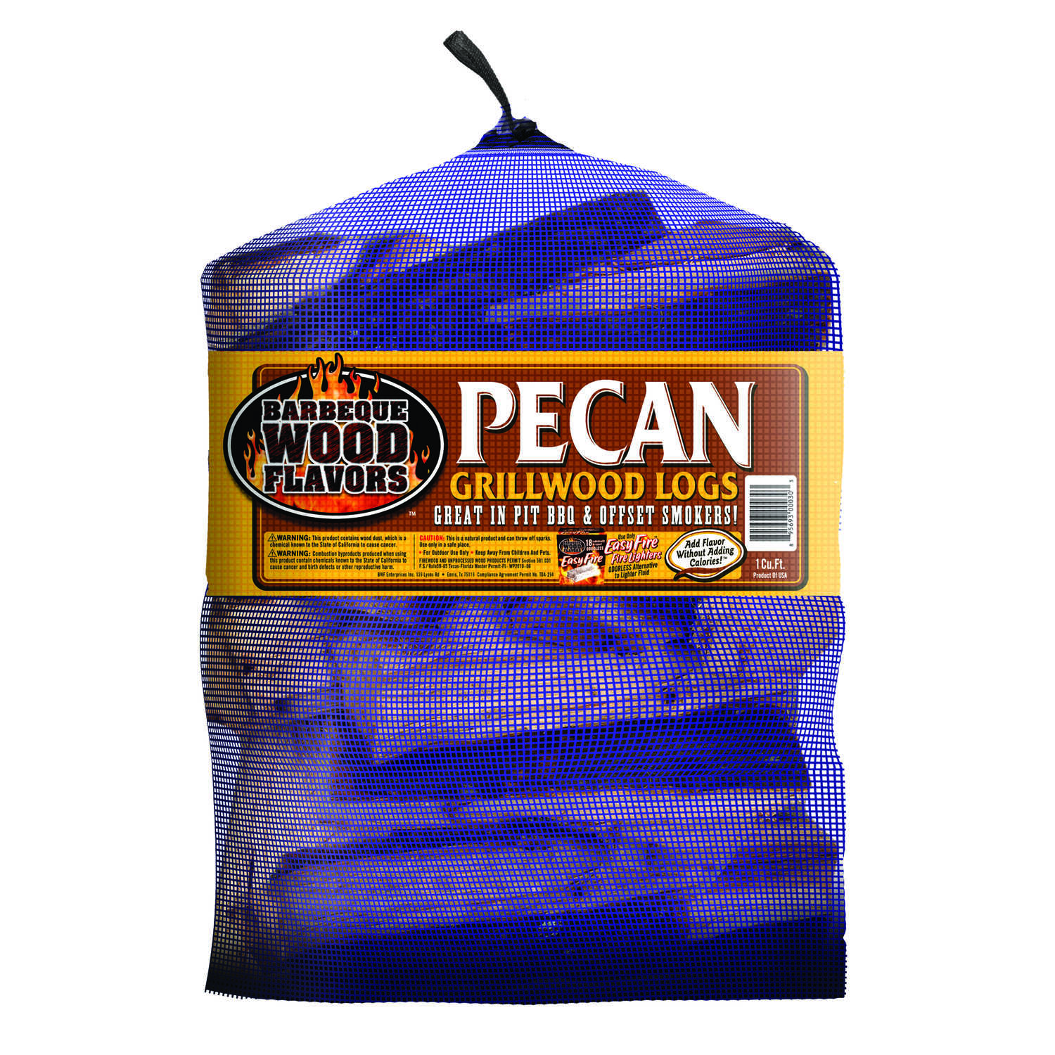 Barbeque Wood Flavors  Pecan  Cooking Logs  1 cu. ft.