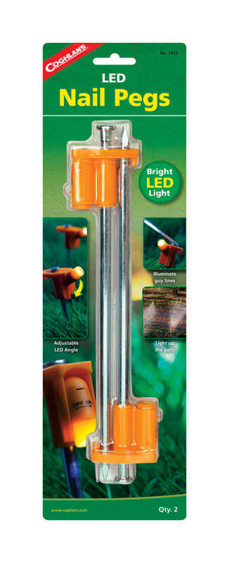 Coghlan's  Tent Pegs  10 in. H x 0.5 in. W x 10 in. L 2 pk