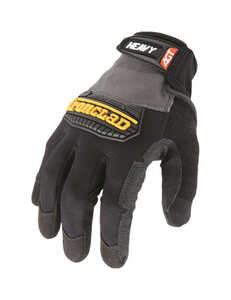 Ironclad  Men's  Synthetic Leather  Heavy Duty  Gloves  Black/Gray  Large