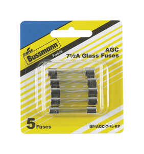 Bussmann  7.5 amps AGC  Mini Automotive Fuse  5 pk