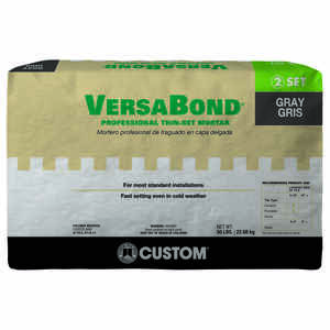 Custom Building Products  VersaBond  Gray  Modified Thin-Set Mortar