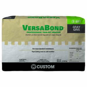 Custom Building Products VersaBond Gray Modified Thin Set Mortar