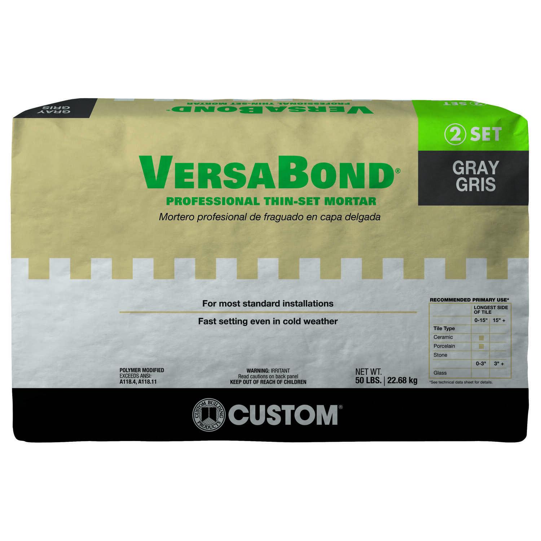 Custom Building Products VersaBond Gray Modified ThinSet Mortar - Custom blend thin set mortar