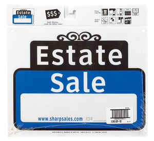 Hy-Ko  English  Estate Sale  Sign  Plastic  12 in. H x 13 in. W