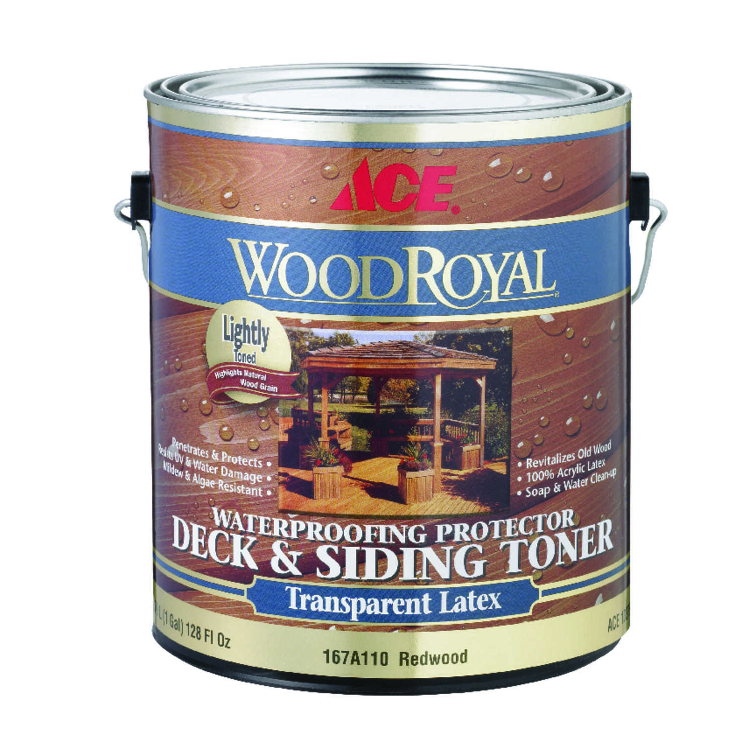 Ace  Wood Royal  Transparent  Redwood  Acrylic  Deck and Siding Toner  1 gal.