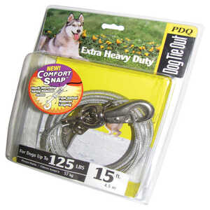 Boss Pet  Extra Heavy Duty  Silver  Tie-Out  Vinyl Coated Cable  Dog  Tie Out  X-Large