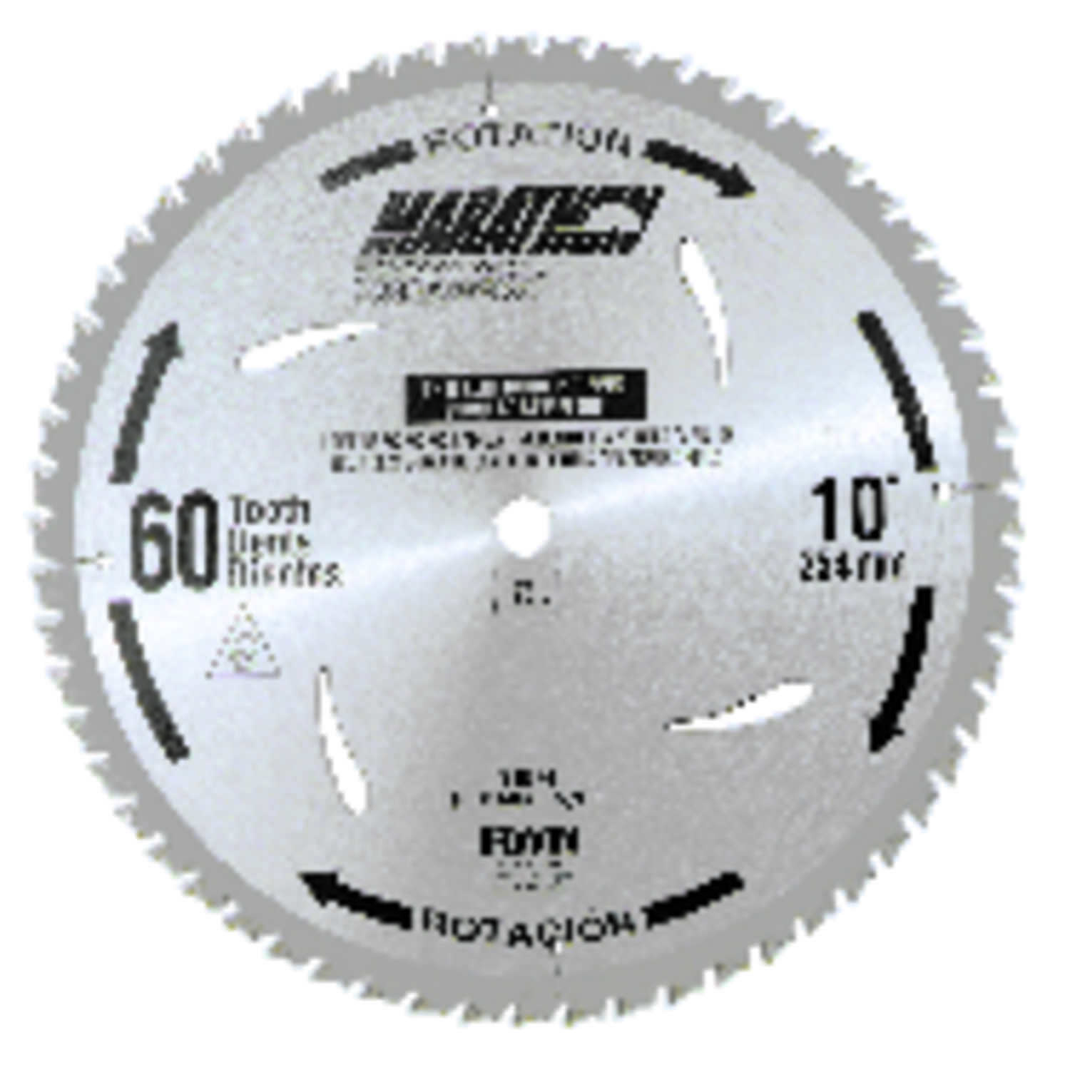 Irwin  Marathon  10 in. Dia. x 5/8 in.  Miter and Table Saw Blade  Carbide  60 teeth 1 pk