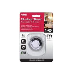 Prime  Indoor  24 Hour Mechanical Timer  125 volt White