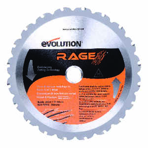 Evolution  Rage  7-1/4  0.067 in.  20  20 teeth Rage  Carbide Tip Steel  Circular Saw Blade