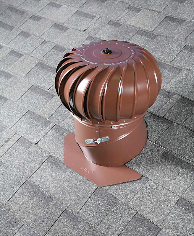 Air Vent  18 in. H x 19.4 in. W x 19.5 in. L x 12 in. Dia. Brown  Galvanized  Turbine and Base