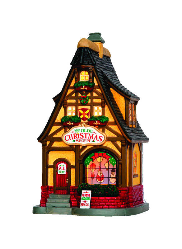 Lemax  Ye Olde Christmas Shoppe  Multicolored  Resin  1 each Village Building