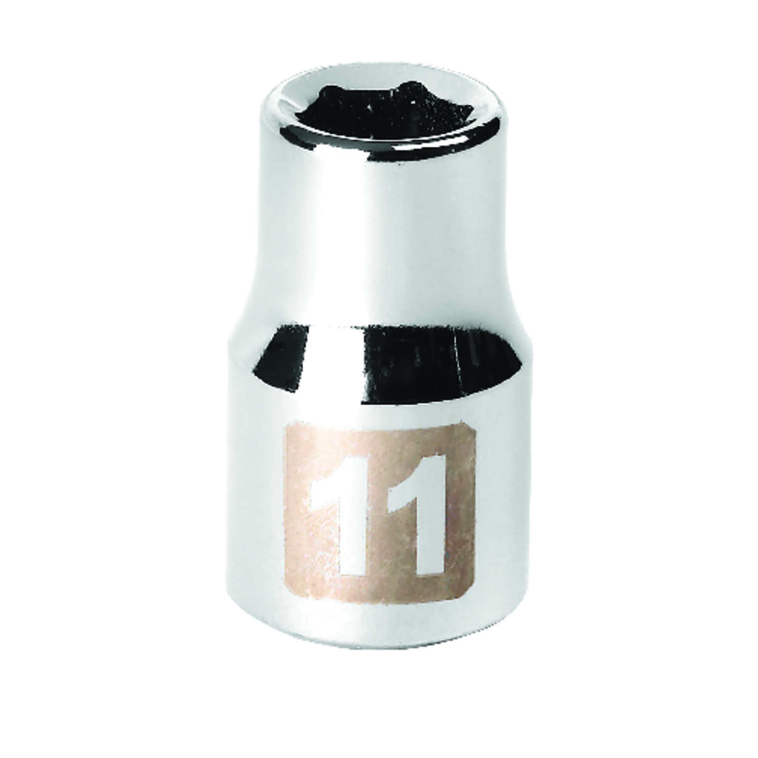 Craftsman  11 mm  x 1/2 in. drive  Metric  6 Point Standard  Socket  1 pc.