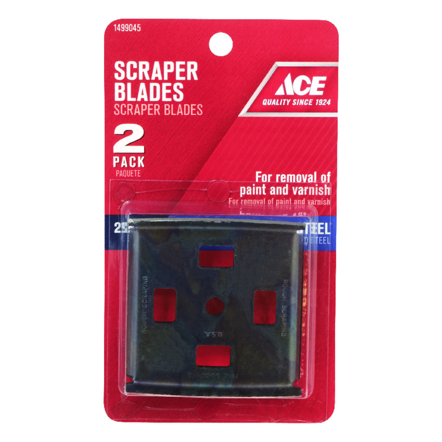 Ace  2-1/2 in. W Tempered Steel  4-Edge  Scraper Blade