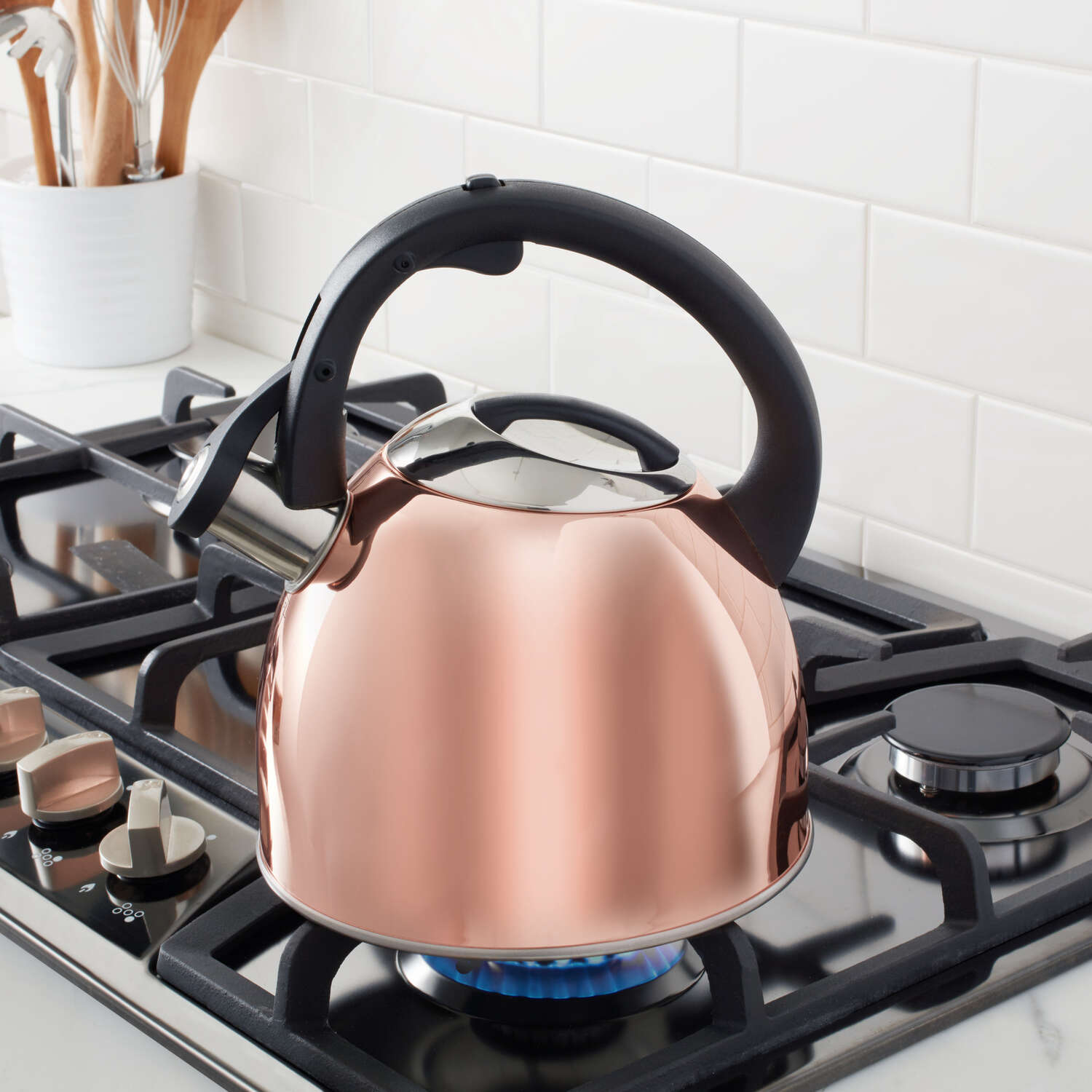 Copco  Copper  Classic Whistle  Stainless Steel  2-1/2 qt. Tea Kettle