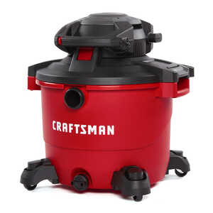 Craftsman  16 gal. Corded  6-1/2 hp 12 amps 120 volt Red  29 lb. 1 pc. Wet/Dry Vacuum with Blower