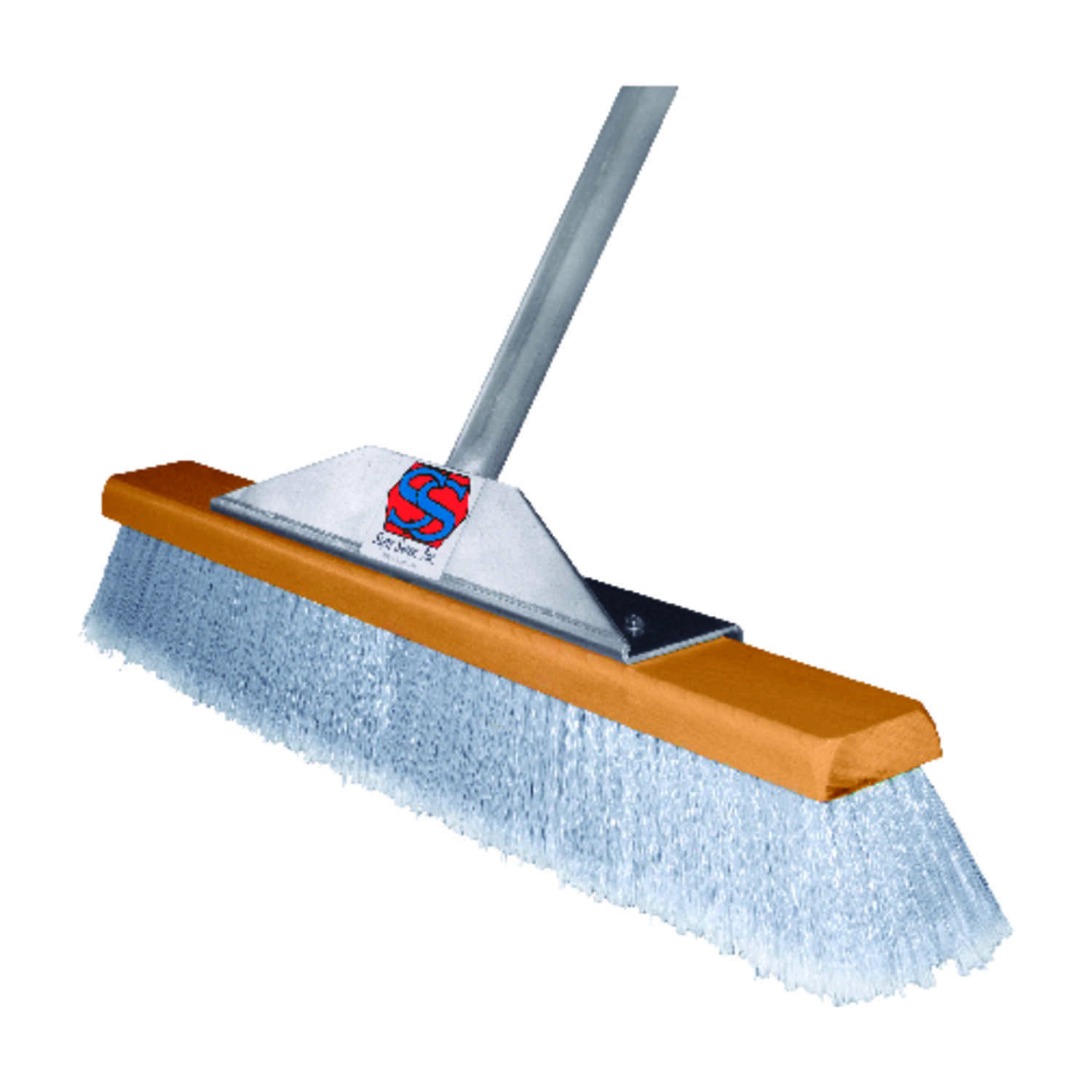the super sweeper smooth surface push broom 24 in w x 60 in l synthetic ace hardware. Black Bedroom Furniture Sets. Home Design Ideas