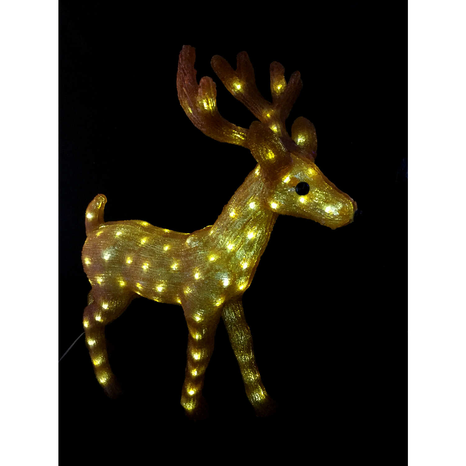 Alpine  LED Reindeer  Christmas Decoration  Gold  Acrylic  1 pk