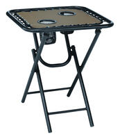 Deals on Living Accents Bungee Square Brown Folding Table