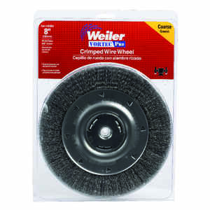 Weiler  Vortec Pro  8 in. Crimped  Wire Wheel Brush  Carbon Steel  4000 rpm 1 pc.