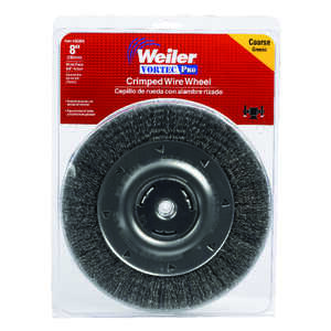 Weiler  8 in. Crimped  Wire Wheel Brush  Carbon Steel  4000 rpm 1 pc.