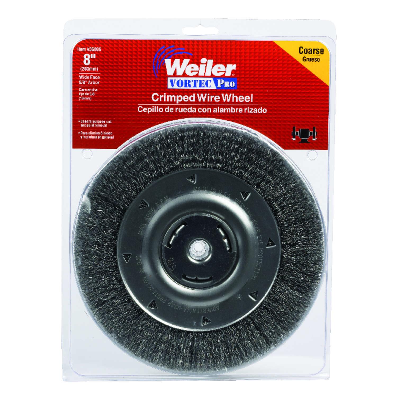 Weiler 8 in. Crimped Wire Wheel Brush Carbon Steel 4000 rpm 1 pc ...