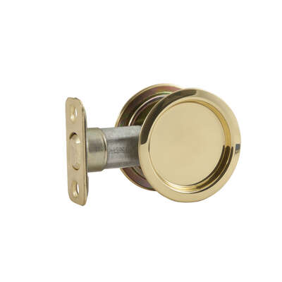 National Hardware  Brass-Plated  Gold  Steel  Pocket Door Pull
