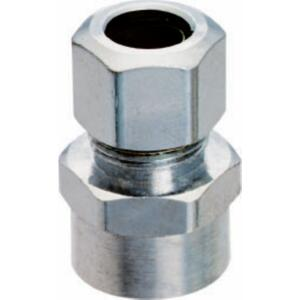 Plumb Pak  1/2 in. Sweat   x 3/8 in. Dia. Compression  Brass  Straight Connector