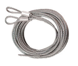 Prime-Line 5.75 in. W x 12 in. L x 3/32 in. Dia. Carbon Steel Extension Cables