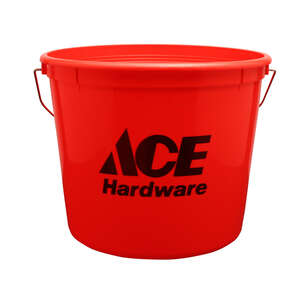 Ace  Red  5 qt. Plastic  Bucket